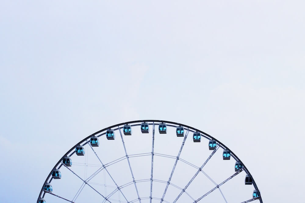 Ferris Wheel in Hong Kong. humidwithachanceoffishballs.com